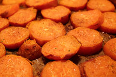 Sweet and spicy potatoes. Baked and roast sweet potatoes Stock Photos