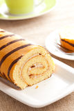 Sweet sponge roll dessert Stock Images
