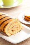 Sweet sponge roll dessert Stock Images