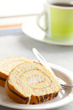 Sweet sponge roll dessert Stock Photo