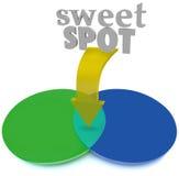Sweet spot que coincide a Venn Diagram Area Perfect Ideal Imagen de archivo libre de regalías