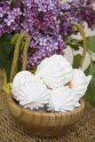 Sweet spring meringues Stock Photos