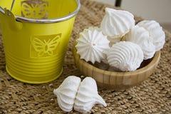 Sweet spring meringues Stock Images