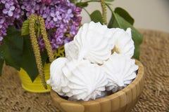 Sweet spring meringues Royalty Free Stock Images