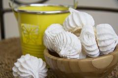 Sweet spring meringues Stock Photo