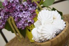 Sweet spring meringues Royalty Free Stock Photo