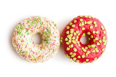 Sweet sprinkled donuts. Stock Images