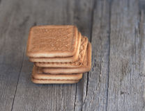 Sweet square cookies Royalty Free Stock Images