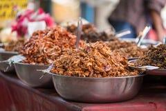 Sweet squid Fried. At Amphawa market, Thailand Stock Photo