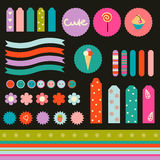Sweet sticker collection Royalty Free Stock Images