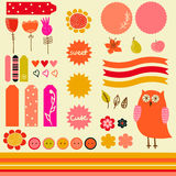 Sweet sticker collection Royalty Free Stock Photo
