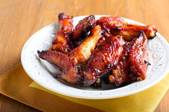 Sweet and sticky chicken wings Royalty Free Stock Photo