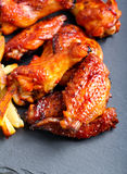 Sweet and sticky chicken wings Royalty Free Stock Image