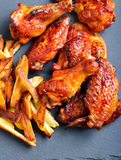 Sweet and sticky chicken wings Royalty Free Stock Photos