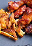 Sweet and sticky chicken wings Stock Images
