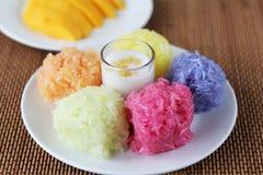 Sweet Sticky Rice With mango Royalty Free Stock Photos