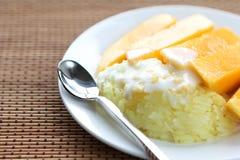 Sweet Sticky Rice With mango Stock Photo