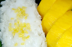 Sweet sticky rice with mango, Thai dessert. Royalty Free Stock Photos