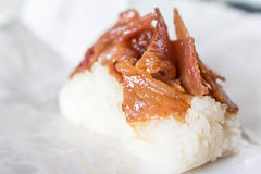 Sweet sticky rice with pork Royalty Free Stock Images