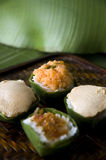 Sweet sticky rice with topping Stock Image