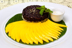 Sweet Sticky Rice With Mango Stock Photography