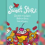 Sweet Store Background Royalty Free Stock Image