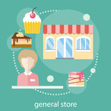 Sweet store concept Royalty Free Stock Image