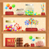 Sweet Store Shelf Royalty Free Stock Images