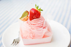 Sweet strawberry cake Stock Photos