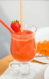 Sweet strawberry cocktail Royalty Free Stock Images