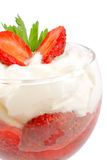 Sweet Strawberry Dessert Stock Photography
