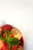 Sweet strawberry dessert Stock Image
