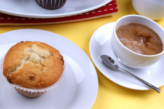 sweet strawberry muffins on a plate Royalty Free Stock Photography