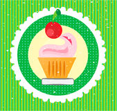 Sweet on striped background Stock Images