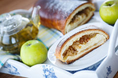 Sweet strudel with apples Royalty Free Stock Image