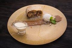 Sweet strudel Stock Photo