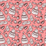 Sweet stuff seamless pattern Stock Images