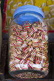 Sweet Sugar Candies. On a Street Market Shop Table, Selective focus with shallow depth of field royalty free stock photography