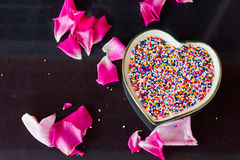 Sweet sugar heart pattern  for background Stock Photos