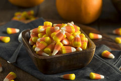 Sweet and Sugary Candy Corn Treats Stock Photo