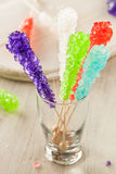 Sweet Sugary Multi Colored Rock Candy Stock Image