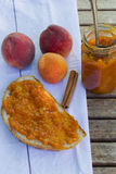 Sweet summer apricot-peach jam Royalty Free Stock Photography