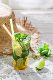 Sweet summer drink with citrus fruit Royalty Free Stock Image