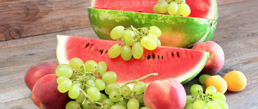 Sweet summer fruits Royalty Free Stock Images