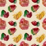 Sweet_summer_pattern2 иллюстрация штока