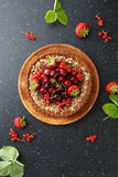 Sweet summer pie with berries Royalty Free Stock Images