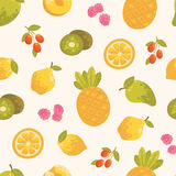 Sweet summer seamless background in vector. Stock Image