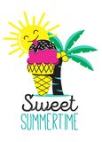 Sweet summer time with ice-cream vector illustration