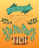 Sweet Summertime poster Stock Photos