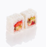 Sweet sushi roll isolated Royalty Free Stock Photo